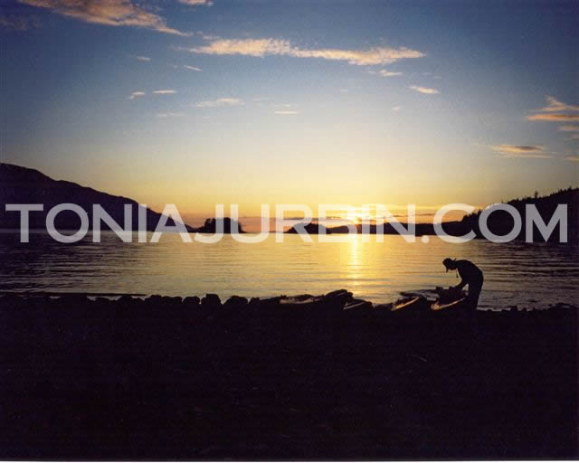 Sunset at Blackfish Sound, BC